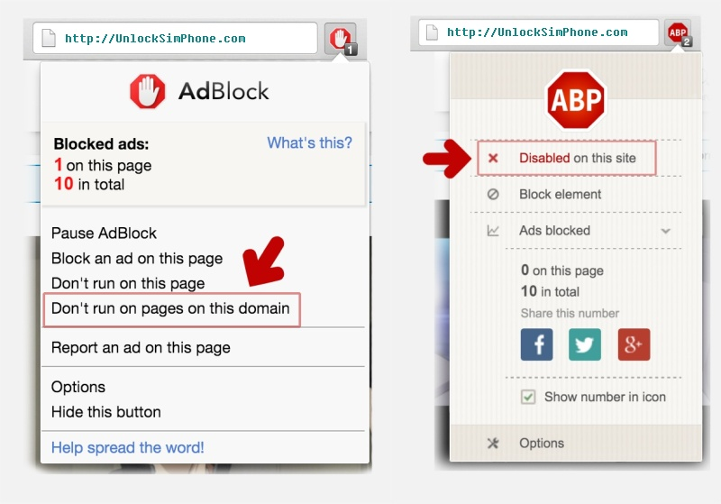 Disable Ad Block to download