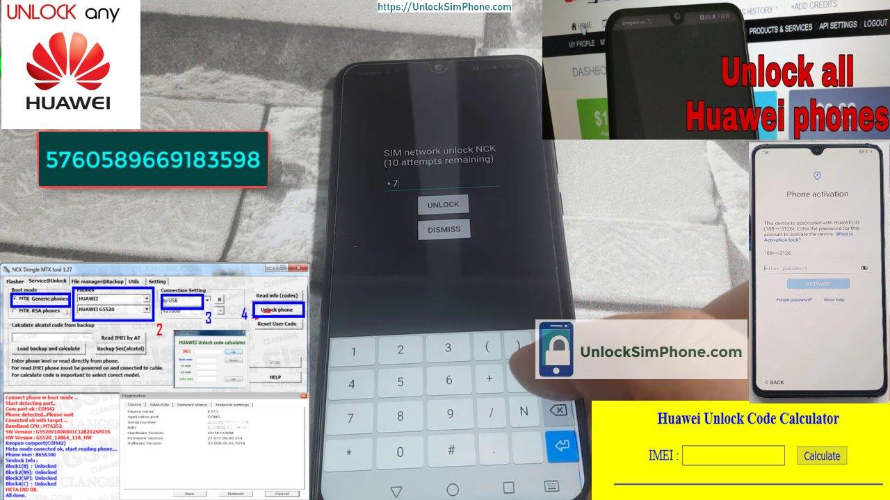 Huawei software unlocking