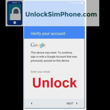 Factory Reset Protection Unlock