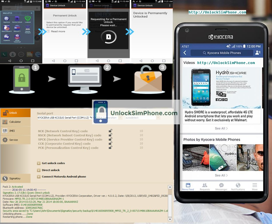 Kyocera Phone Unlocking Tool