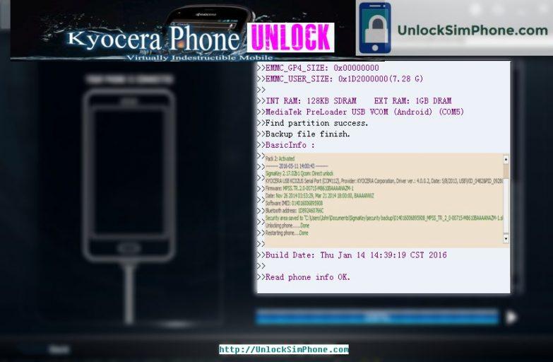 kyocera unlocking