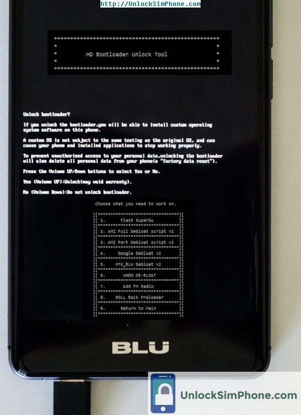 free blu phone unlock