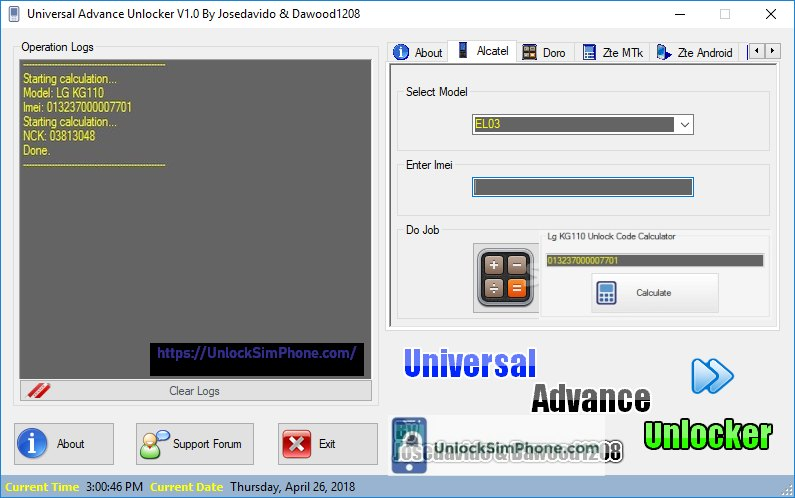 Universal Advanced Unlocker.